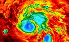 L'ouragan Harvey vu de l'espace par le satellite Sentinel-3A